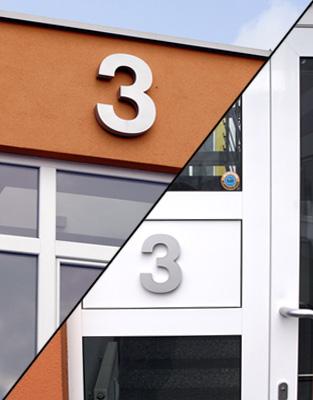 Gebäudenumerierungen / Orientierungssystem (P61)
