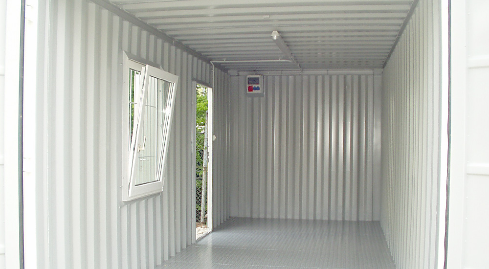 Container zur Nutzung als Lager oder Behelfsbüro